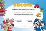Modelos de diplomas para educação infantil