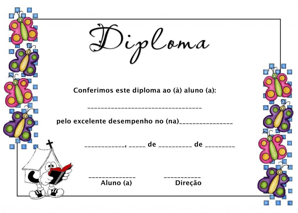 modelo de diploma infantil