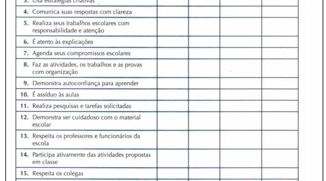 Populares Modelo de relatório de avaliação do desempenho escolar NC59