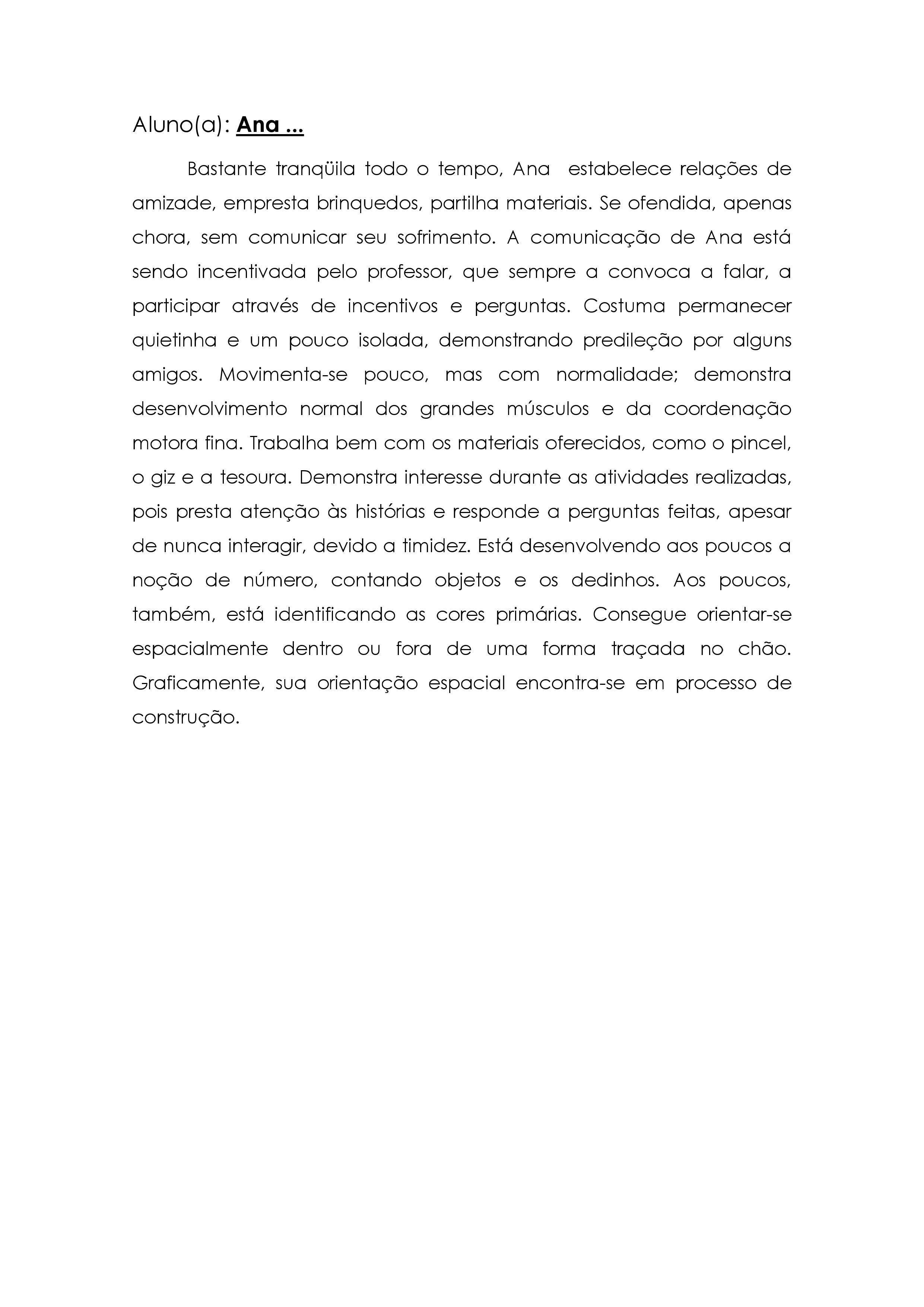 Muitas vezes Modelo de relatório de avaliação do desempenho escolar CP05