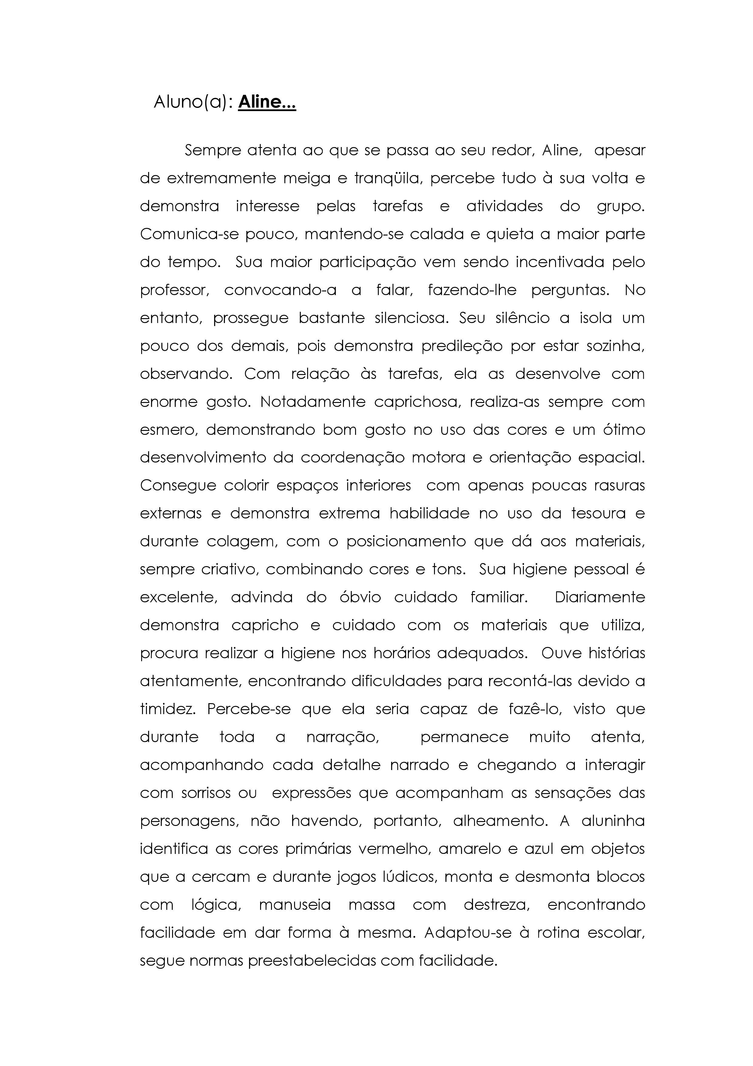 Populares Modelo de relatório de avaliação do desempenho escolar SS07