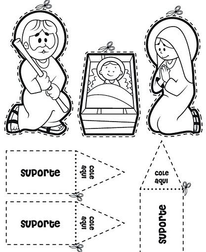 moldes de presépio para o natal