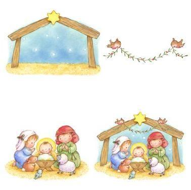 Moldes de pres pios para o natal - Figuras belen infantil ...