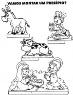 Moldes de presépios para o natal