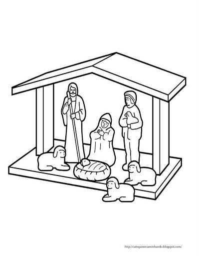 personagens de presépio para montar recortar natal atividade