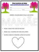 Atividades para o dia das mães – 2017 NOVIDADE!!!