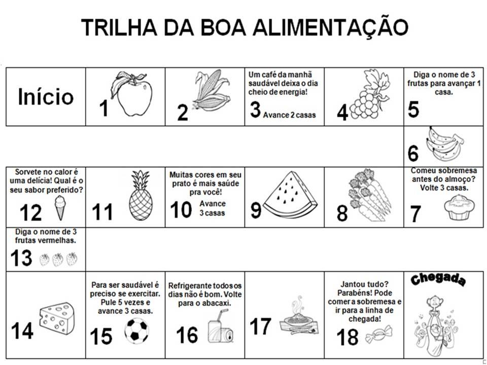 Trilha Da Alimentacao Saudavel Atividades Para A Educacao