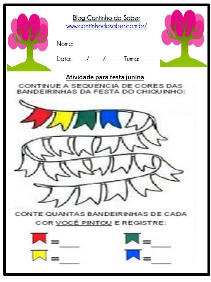 Atividade Sobre a Festa Junina Para a Educação Infantil (10)