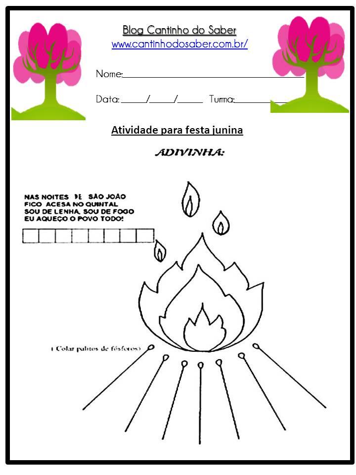 Atividade Sobre a Festa Junina Para a Educação Infantil (15)