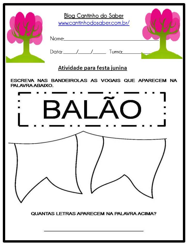 Atividade Sobre a Festa Junina Para a Educação Infantil (32)
