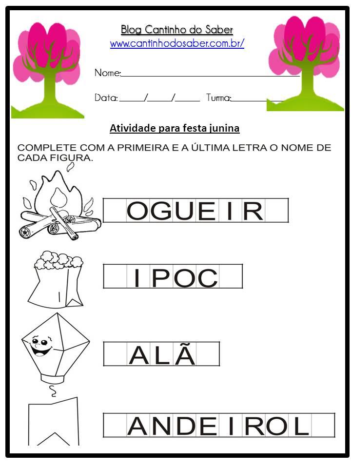 Atividade Sobre a Festa Junina Para a Educação Infantil (5)