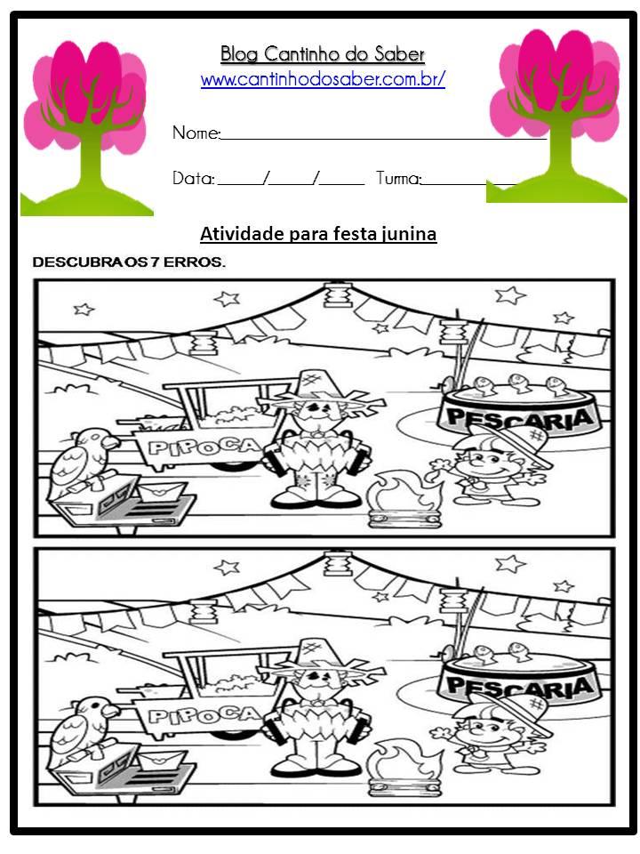 Atividade Sobre a Festa Junina Para a Educação Infantil (7)