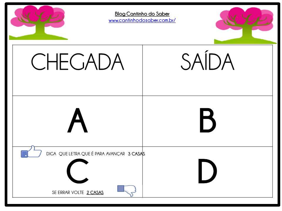 Jogo Trilha Do Alfabeto Atividades Para A Educacao Infantil