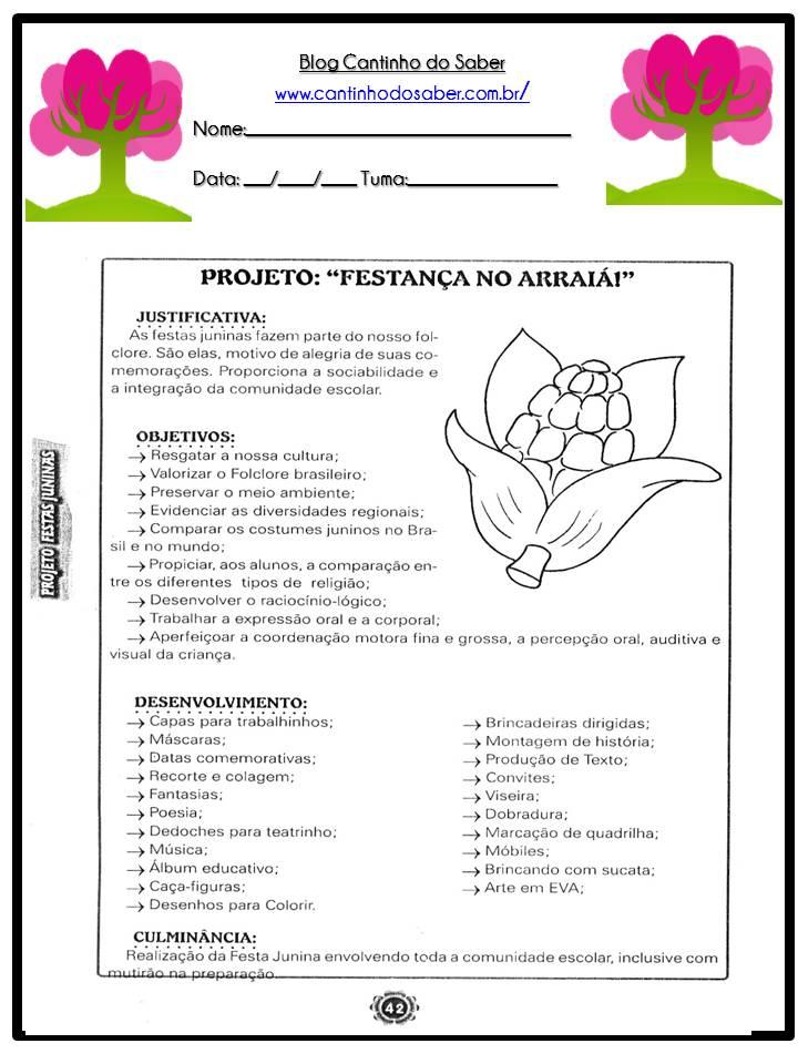 Arquivos Projetos Prontos Para Imprimir Atividades Para A