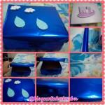 Caixa decorada para usar na rodinha