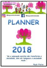 Planner  2018 Exclusivo Blog Cantinho do Saber