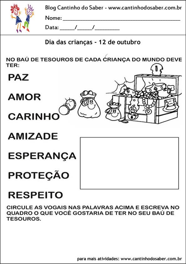 atividade para o dia das crianças