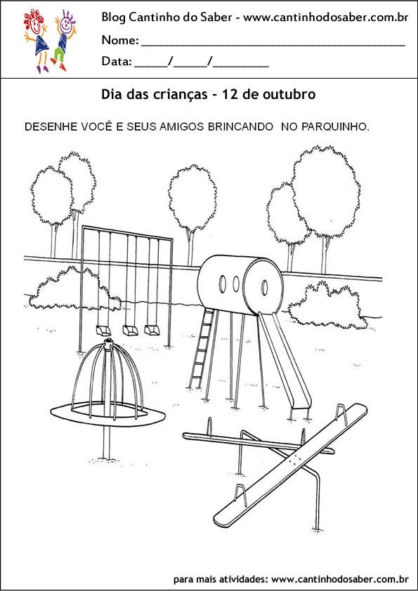 atividades para o dia das crianças com desenho