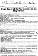Atividades para a proclamação da república dia 15 de novembro
