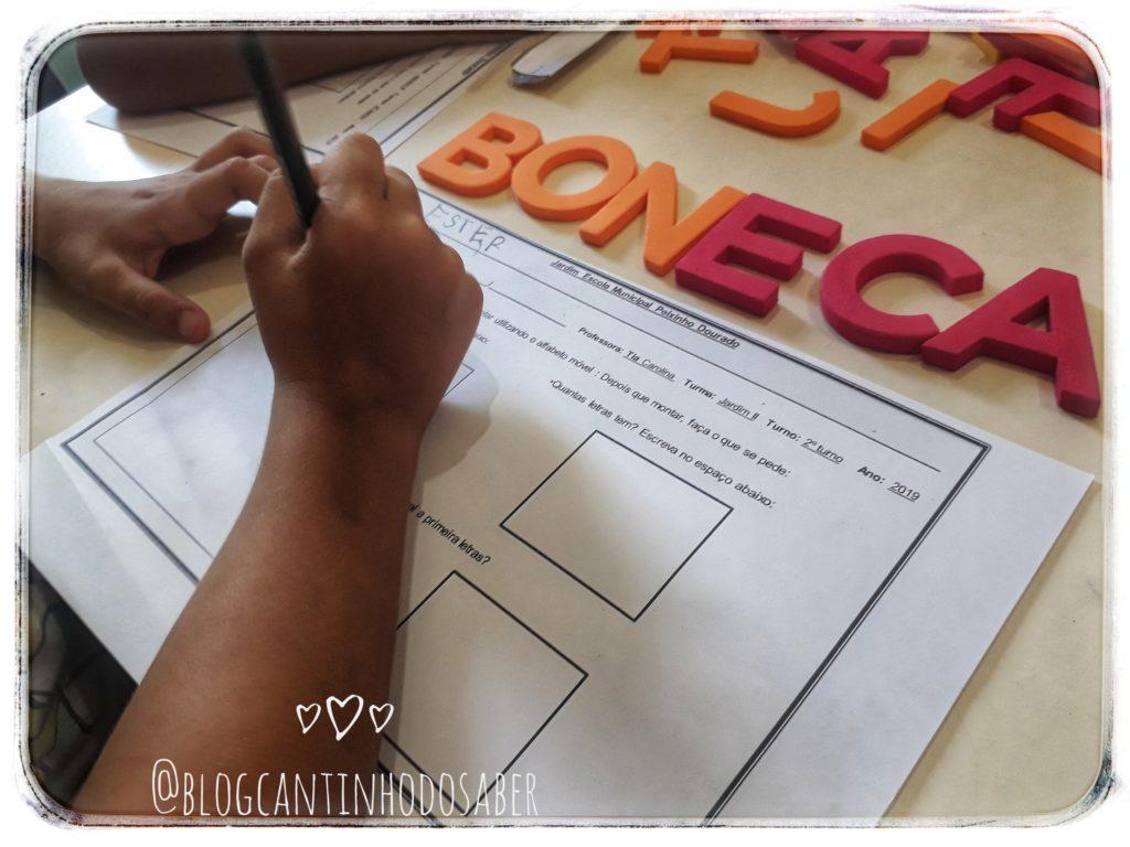 Atividade Com Alfabeto Movel Atividades Para A Educacao Infantil