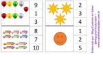 Jogo para trabalhar os números e a quantidade