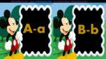 Alfabeto Mickey preto