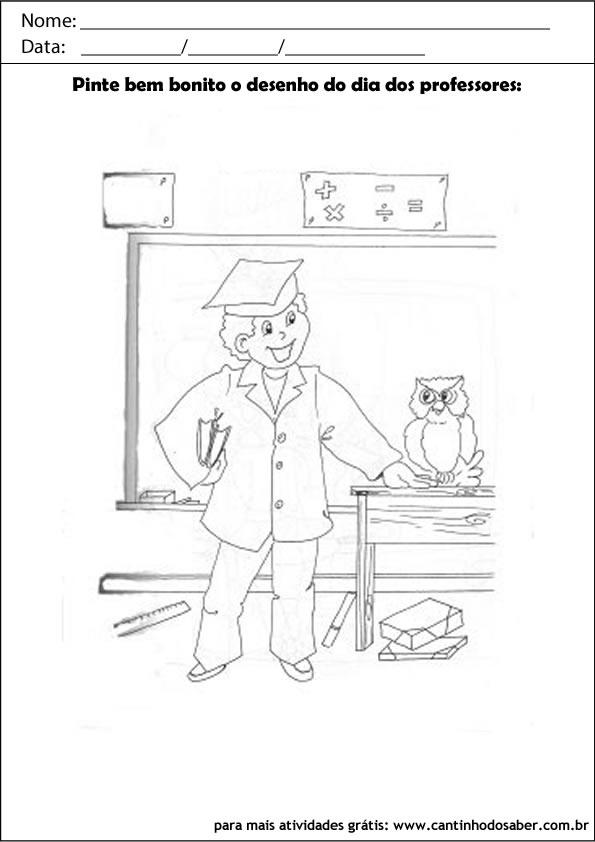 atividade para o dia dos professores pinte o desenho