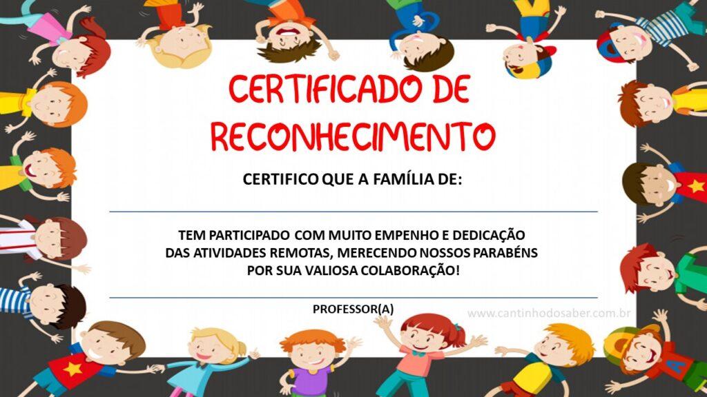 certificado para ensino fundamental
