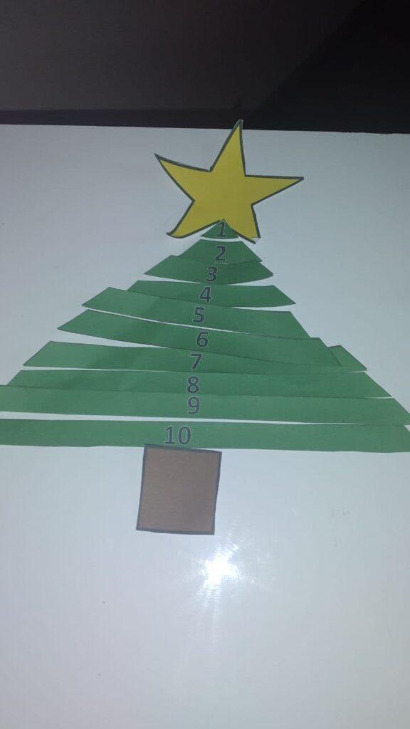 Ideias de atividades para trabalhar o Natal de forma lúdica - Arvore dos números