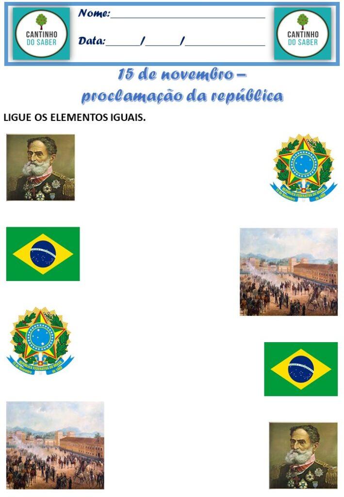 atividade para proclamação da república