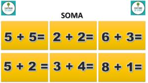 modelo para atividade de matemática soma