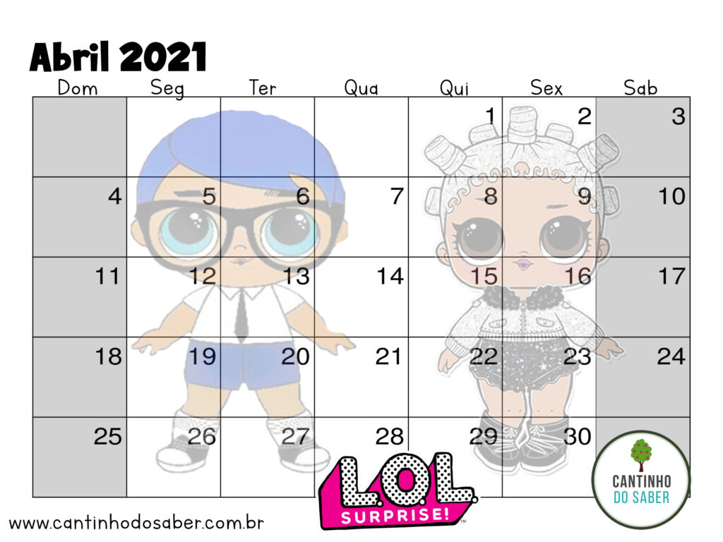 calendario lol surprise abril 2021