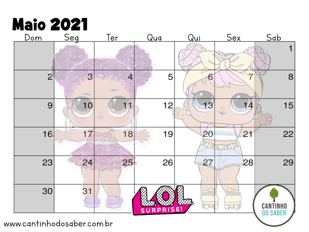 calendario lol surprise maio 2021
