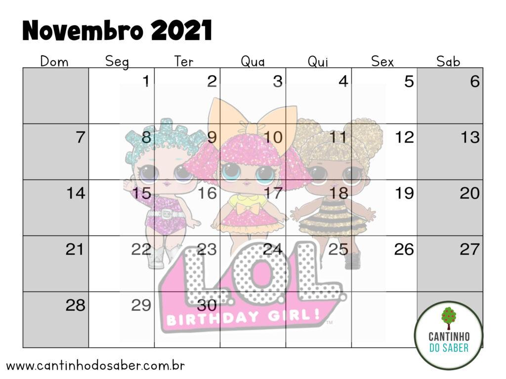 calendario lol surprise novembro 2021