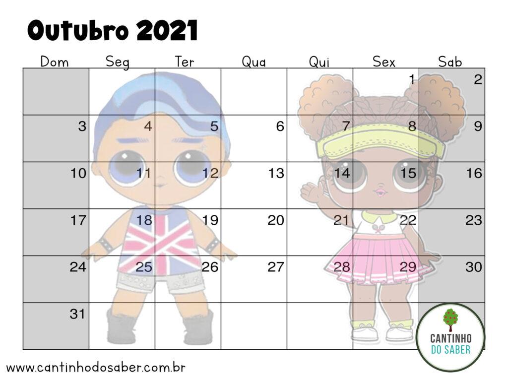 calendario lol surprise outubro 2021