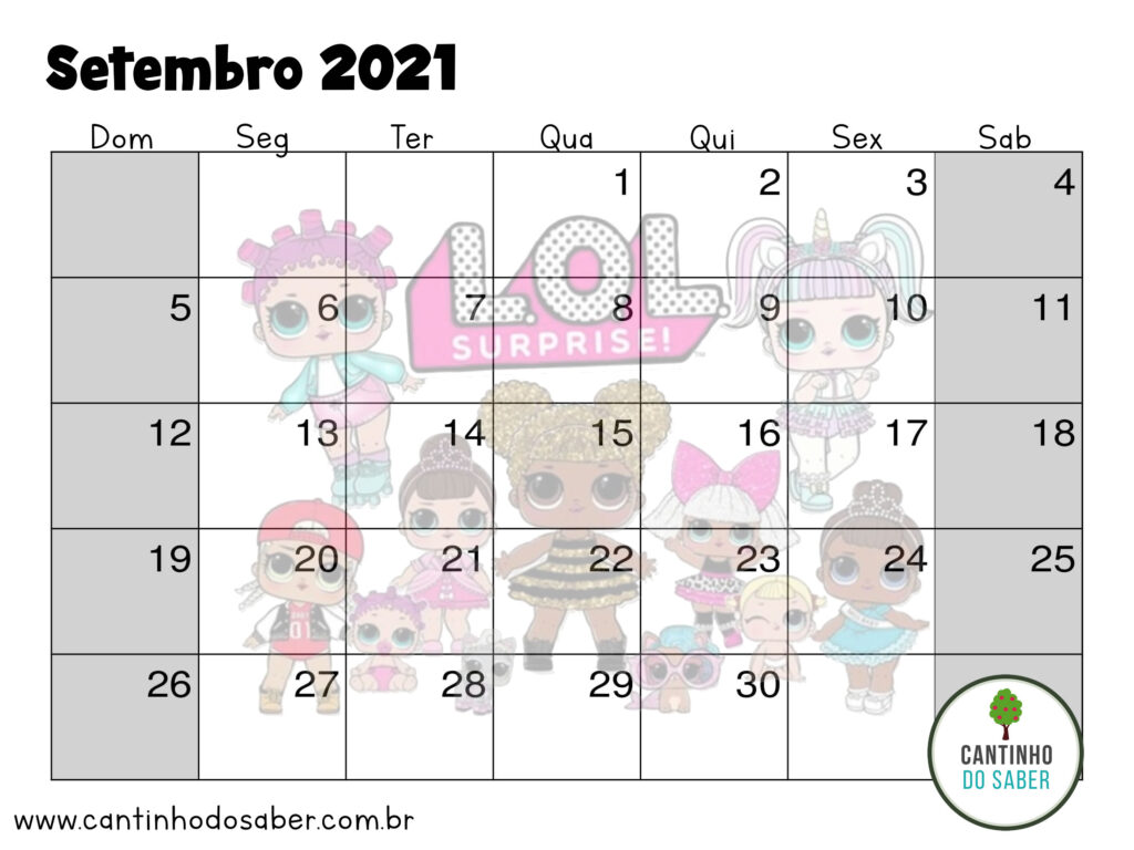 calendario lol surprise setembro 2021