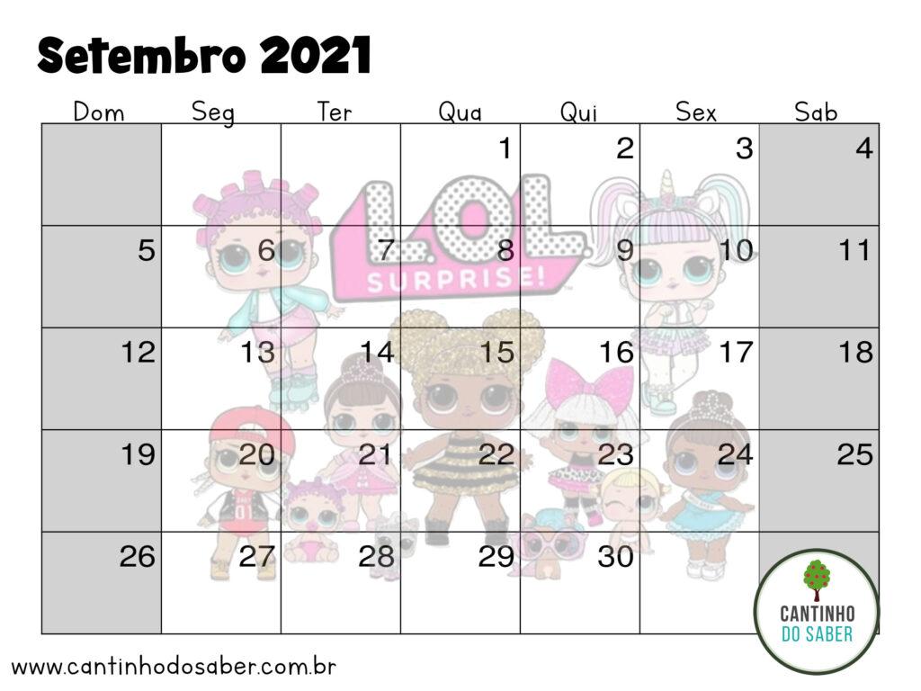 calendario lol surprise setembro 2021