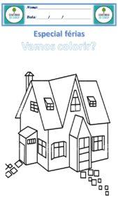 desenho para colorir casa grande