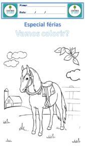 desenho para colorir cavalo