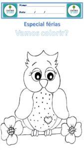 desenho para colorir coruja