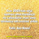 Mensagens para fim de ano 2021