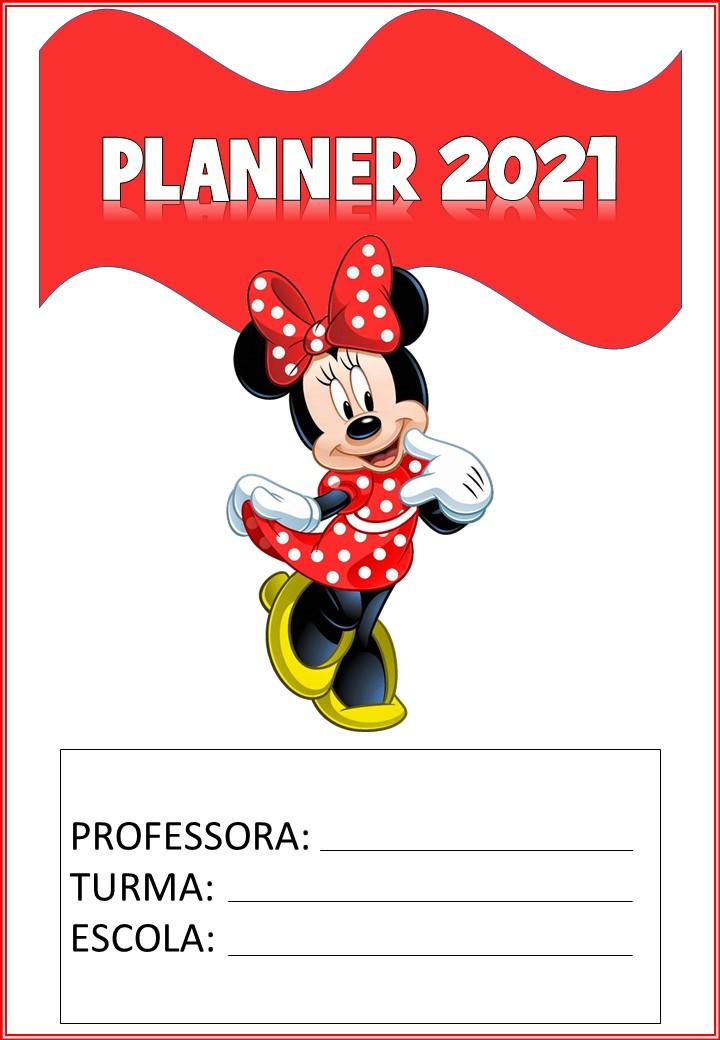 planner 2021 da minnie para download capa