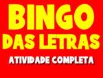 Bingo das letras do nome para trabalhar o alfabeto na Educação Infantil