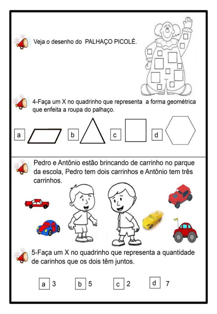 AVALIAÇÃO DIAGNÓSTICA PARA 2 ANO DE MATEMÁTICA