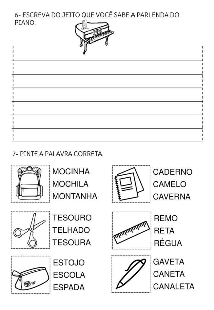 AVALIAÇÃO DIAGNÓSTICA PARA 3 ANO DE PORTUGUÊS