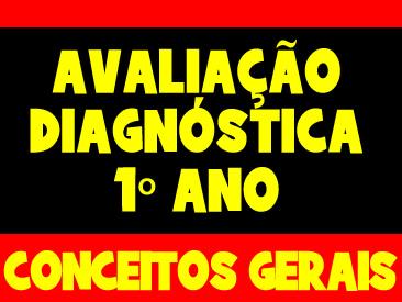 AVALIAÇÃO DIAGNOSTICA CONCEITOS GERAIS 1 ANO