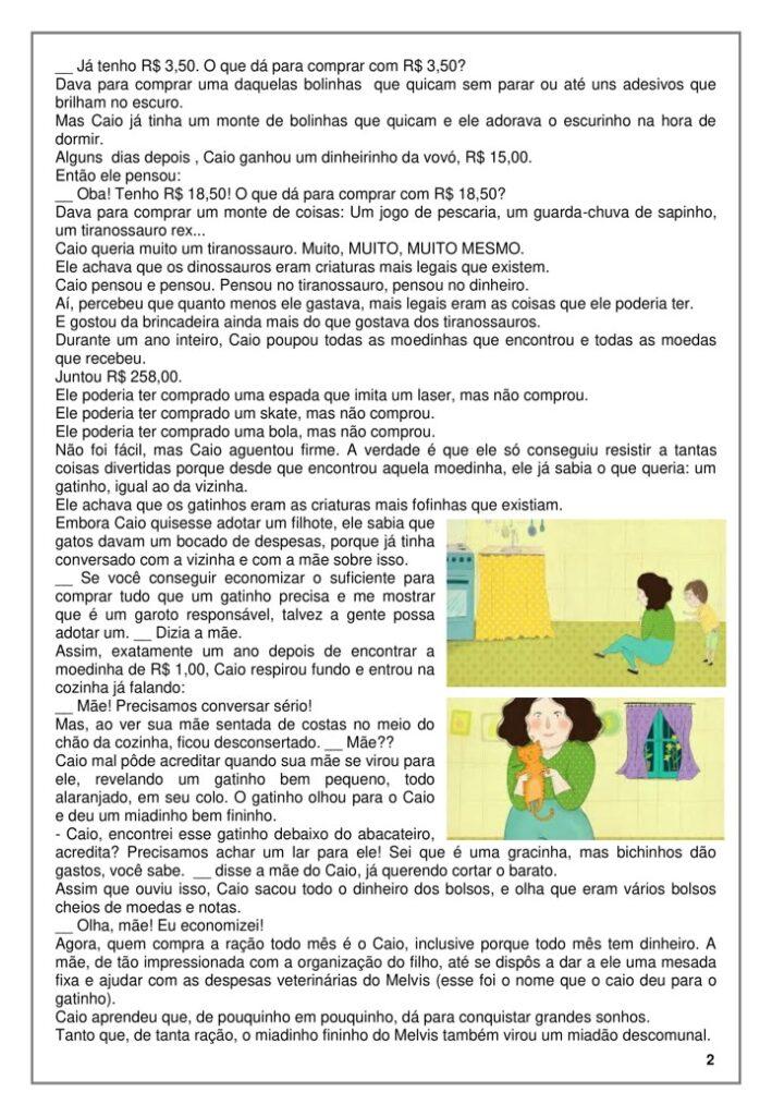 EDUCAÇÃO FINANCEIRA PARA O 3 ANO