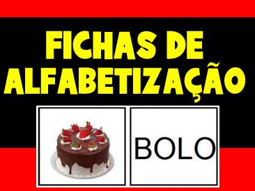 FICHAS DE ALFABETIZAÇÃO