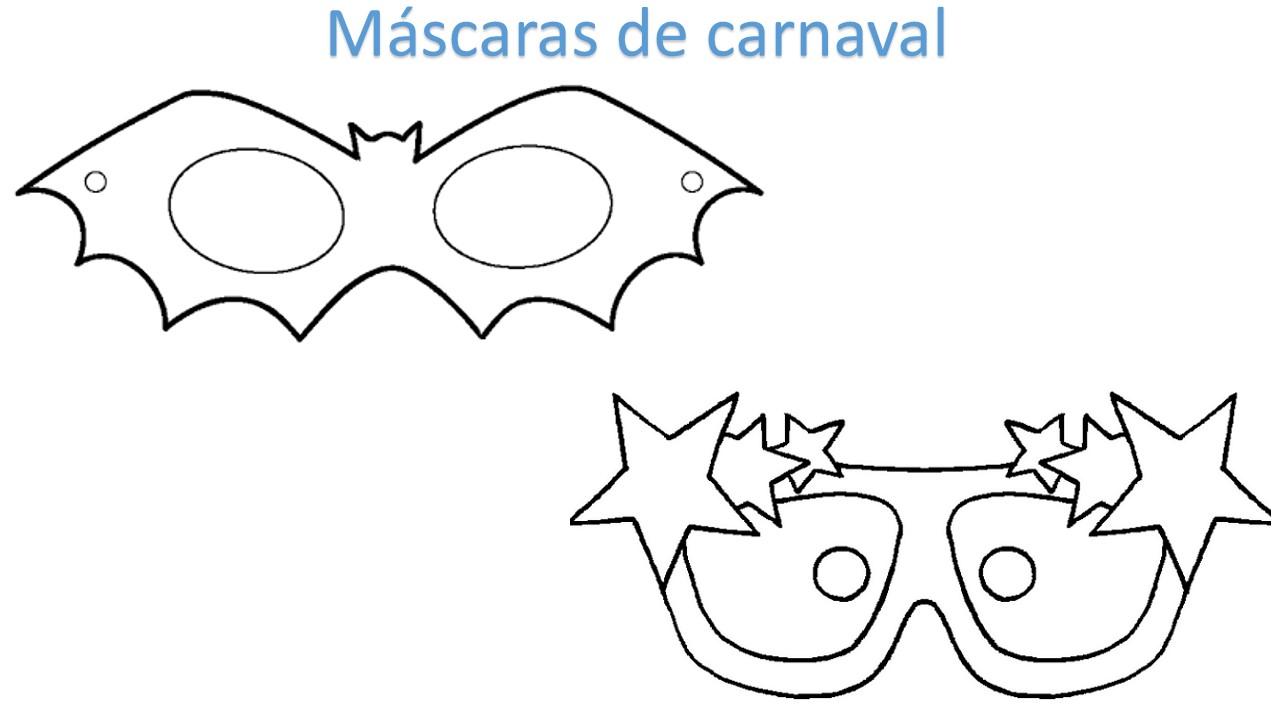 MASCARAS DE CARNAVAL 2021 PARA PINTAR RECORTAR E BRINCAR