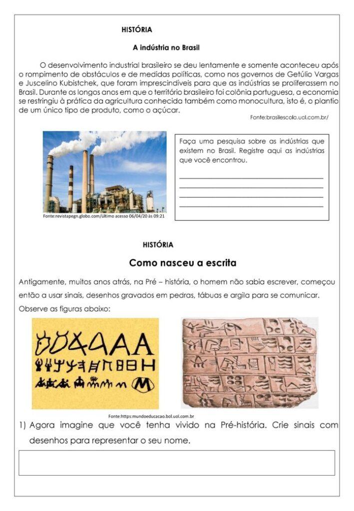 APOSTILA DE HISTÓRIA PARA O 4 ANO